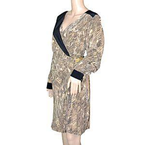 NWT Trina Turk Black & Nude Beige Silk Dress 10